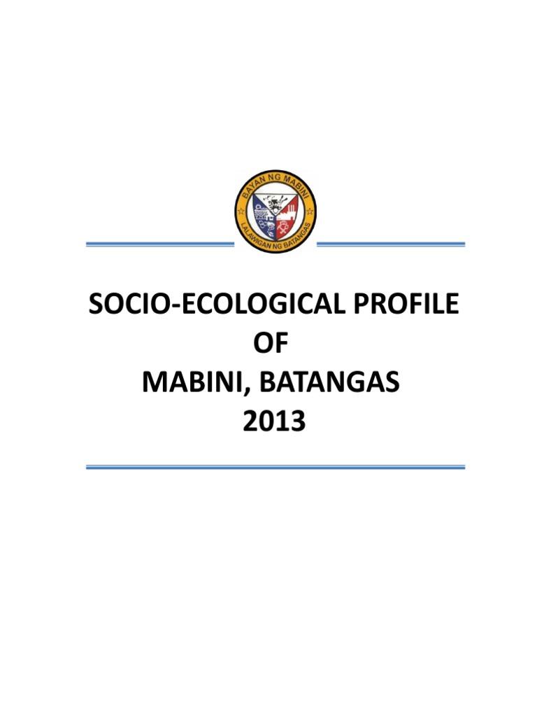PROFILE 2013_mabiniBATANGAS.pdf | Soil | Nature
