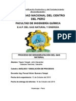 Inf. - Proceso de Deshidratación Del Gas Natural