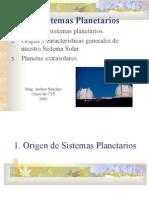 Origen Sistemas Planetarios