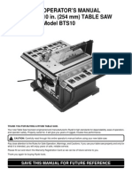 Ryobi BTS10 Table Saw Operator's Manual