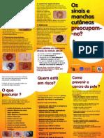 Folheto de Fotoeducação Manchas, Sinais e Cancro Cutâneo 2