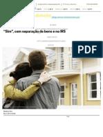 Sim Com Separação de Bens e No IRS - Dinheiro Vivo