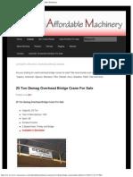 Used Overhead Bridge Cranes for Sale