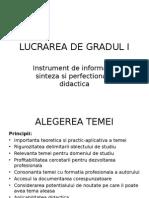 Structura Lucrare Grad 1