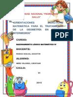 Orientaciones Didácticas Matemáticas Para Eltratamiento de La Geometria
