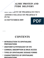 Ophthalmic Protein Peptide Drug Delivery