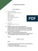 Determinación Grasas y Aceites Método SOXHLET