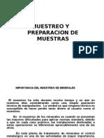 Muestreo y Preparacion de Muestras. Minas 2015 II Semestre