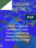 Steel Plate Girder Deflections