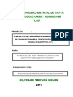 Plan Piloto - Cocachacra