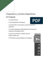 Diagnosticos y Pruebas Diagnosticas de Lenguaje
