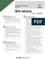 TJSC FGV 2015 Analista- Assistente Social PROVA _Tipo_1