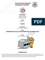 Tratamiento de Los Costos Indirectos de Fabricación