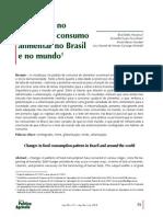 Mudancas No Padrao de Consumo Alimentar No Brasil e No Mundo