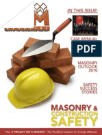 April 2010 CAM Magazine. Masonry, Construction Safety, CAM Annual Report