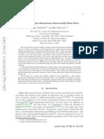 Stability in Higher Dimensional Schwarzchild Black Holes