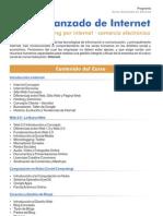 Programa del Curso Avanzado de Internet