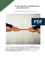 Enfrentamientos entre ejecutivo y legislativo por la Ley 1709 del 2014