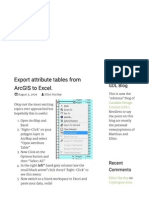 Export Attribute Tables From ArcGIS to Excel