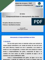 AULA 2) Adensamento e Compressibilidade