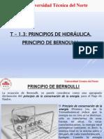 T_1-3_ Principios de Hidraulica - Ecuacion de Bernoulli