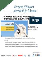 Matricula UA