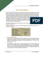 IIFT 2012 Analysis