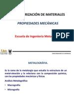 1 Caracterizaci n Microestructural y Mec Nica Primera Parte