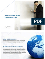 Cisco Systems Reports Q3 Fiscal Year 2008 Financial Results