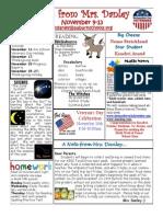 newsletter november 9-13