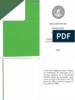 Reglamento Trabajo de Graduacion (Parte I)