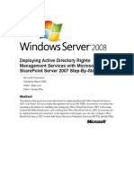 Deploying Active Directory Rights Management Services With Microsoft Office SharePoint Server 200