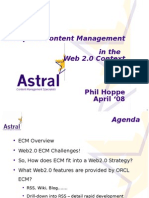 Session 4 Content Management for WEB 2 0 by Phil Hoppe - Astral