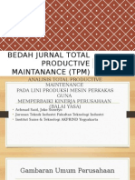 Bedah Jurnal Total Productive Maintanance (TPM)