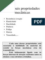 Principais propriedades mecânicas