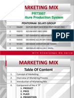 Marketing Mix (Penternak Sejati) PRT3007 Dr. Martini