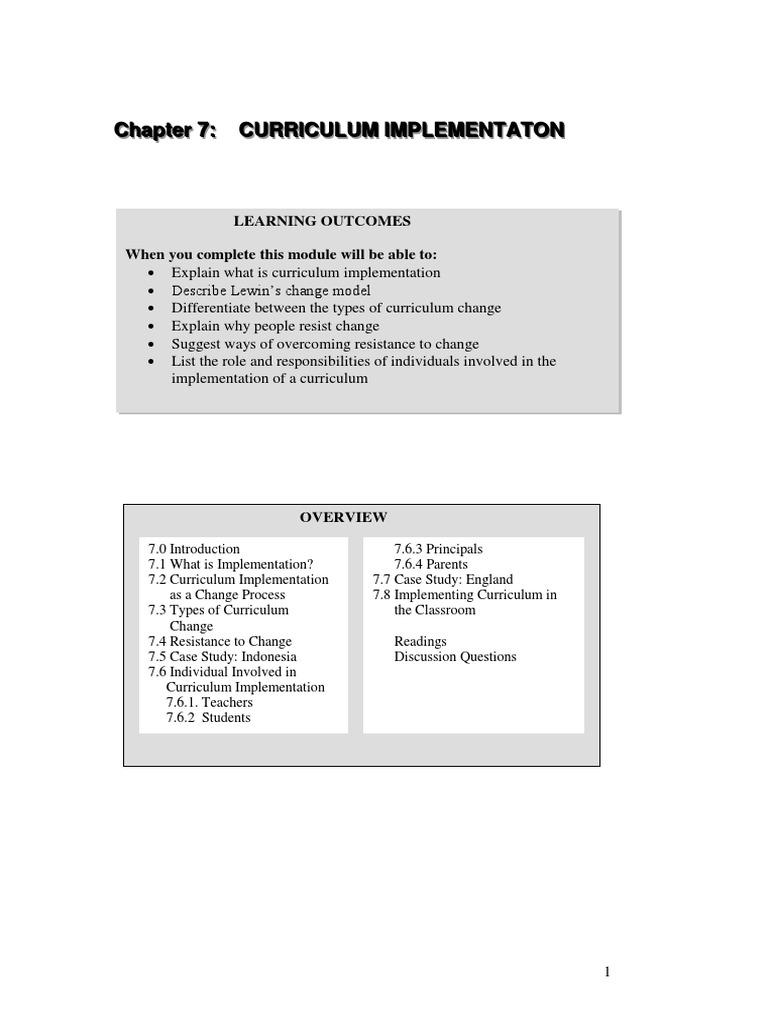 7 types of curriculum