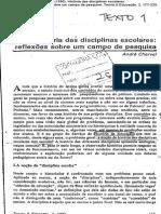História Das Disciplinas Escolares Chervel