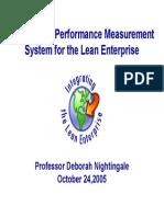 Metrics and Performance Measurement