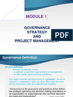 Governance- Strategy and PM