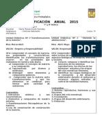 Planificacion Anual 2015 7º Ciencias