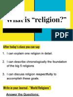 religion presentation day 1