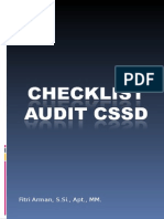 Checklist Audit Cssd