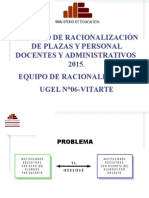 Proceso de Racionalizacion 2015