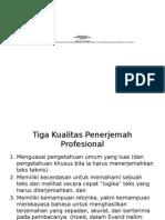 INTRODUCTION to Penerjemahan Teks Khusus