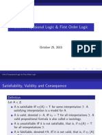 Proportional Logic and first order Logic