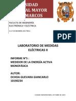 informe n°5 Medidor de energía monofásica