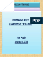 Maximo Training Material Day 2