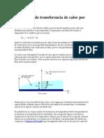 Coeficiente de Transferencia de Calor Por Convección