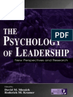 The Psychology of Leadership New Perspectives and Research - David M. Messick
